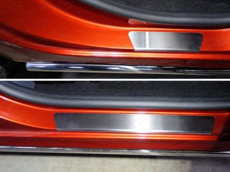 Lada XRAY(x-ray) 2016-Накладки на пороги (лист шлифованный)